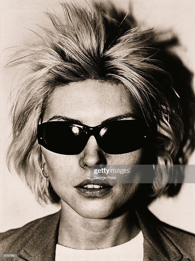 Debbie Harry of the rock group Blondie poses backstage after a 1979 West Hollywood, California concert at the Whiskey A Go Go.
