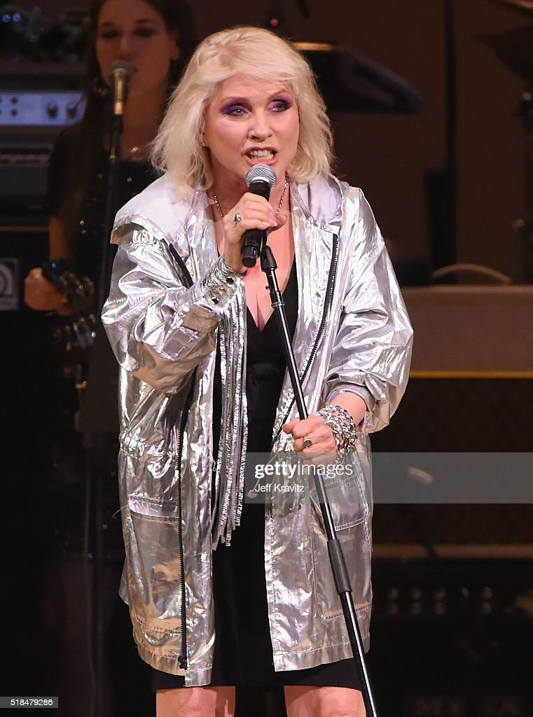 Debbie Harry performs 'Starman' onstage at Michael Dorf Presents - The Music of David Bowie at Carnegie Hall at Carnegie Hall on March 31, 2016 in New York City.