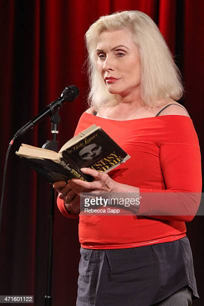Debbie Harry reads onstage at Celebrity Autobiography The Music Edition Volume 5 at The GRAMMY Museum on April 29 2015 in Los Angeles California