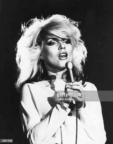 Debbie Harry singer with American new wave pop group Blondie UK 1978