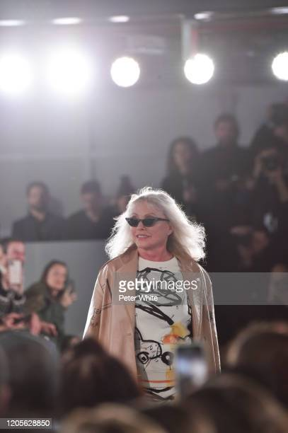 Debbie Harry walks the runway for the Coach 1941 fashion show during February 2020 New York Fashion Week on February 11 2020 in New York City