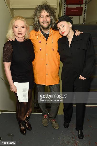 Debbie Harry Wayne Coyne and Miley Cyrus attend at Carnegie Hall the Tibet House Benefit Concert 2015 on March 5 2015 in New York City