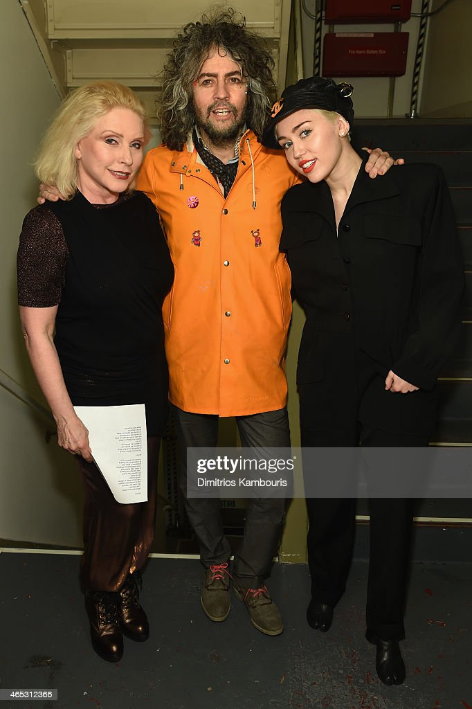Debbie Harry, Wayne Coyne and Miley Cyrus attend at Carnegie Hall the Tibet House Benefit Concert 2015 on March 5, 2015 in New York City.
