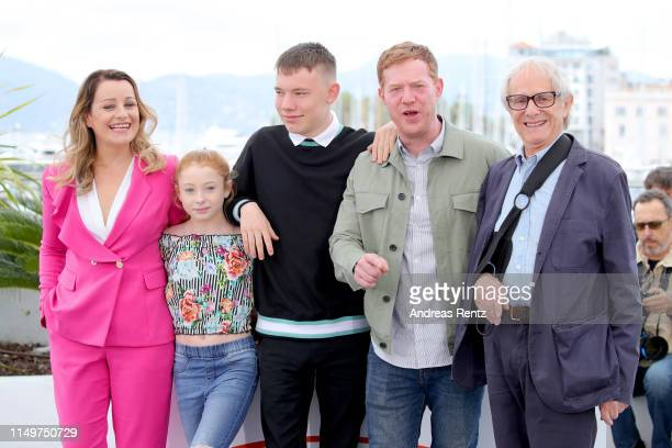 Debbie Honeywood Katie Proctor Rhys Stone Kris Hitchen and Ken Loach attend the Sorry We Missed You Photocall during the 72nd annual Cannes Film...