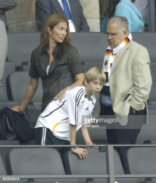 Debbie KLINSMANN et son fils en tribune Allemagne / Argentine 1/4 Finale de la Coupe du Monde 2006 Berlin