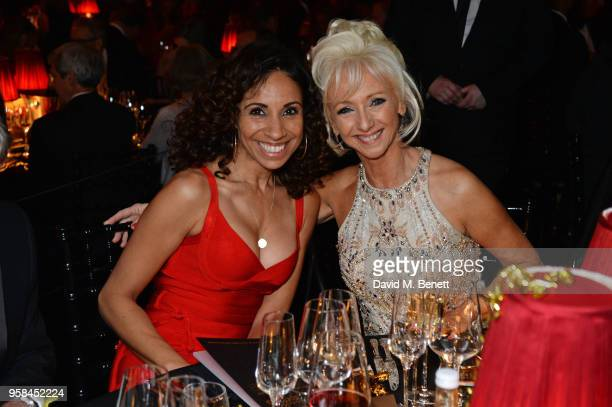 Debbie Kurup and Debbie McGee attend The Old Vic Bicentenary Ball to celebrate the theatre's 200th birthday at The Old Vic Theatre on May 13 2018 in...