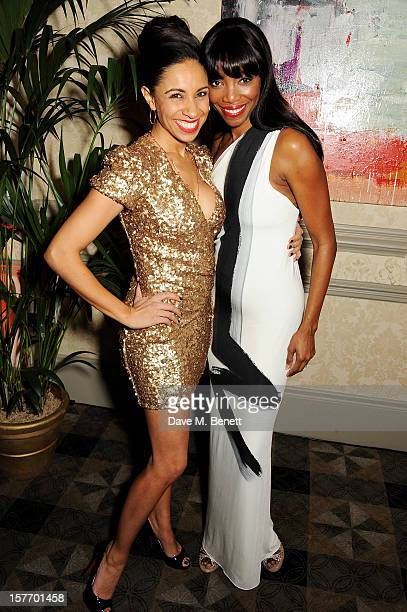 Debbie Kurup and Heather Headley attend an after party celebrating the press night performance of 'The Bodyguard' at on December 5 2012 in London...