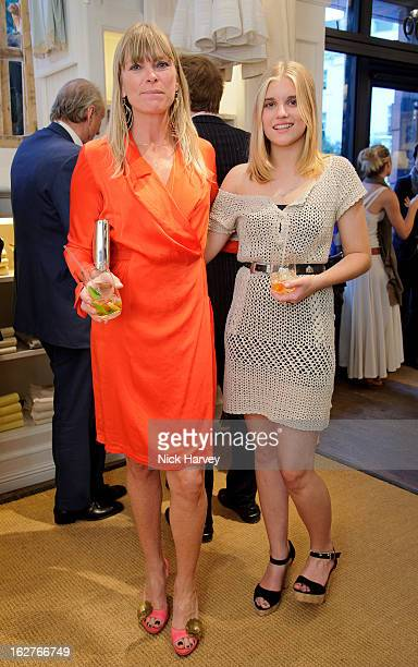 Debbie Leng and Tiger Lily Taylor attend The Ralph Lauren Wimbledon Party at the Ralph Lauren store in Brompton Road on June 21 2011 in London England