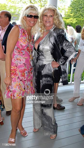 Debbie Leonard and Jocelyn Wildenstein during Jason Binn and Hamptons Magazine 6th Annual Memorial Day Celebration at Private Hampton Residence in...