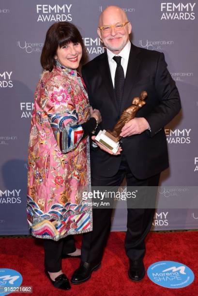 Debbie Lesser and Donald R Allen Jr attend 2018 Femmy Awards hosted by Dita Von Teese on February 6 2018 in New York City