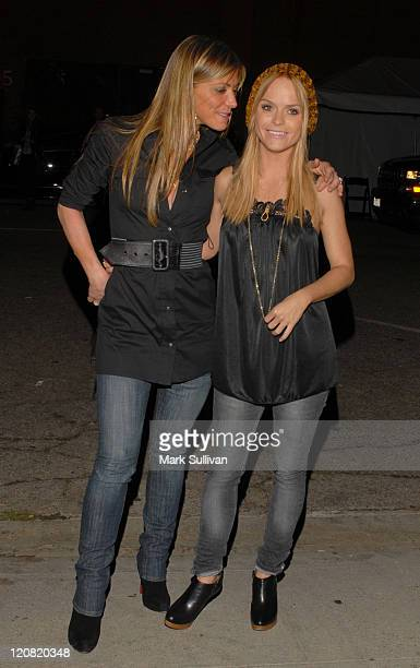 Debbie Matenopoulos and Taryn Manning during MercedesBenz Spring 2007 LA Fashion Week at Smashbox Studios Arrivals Day 2 at SmashBox Studio in Culver...