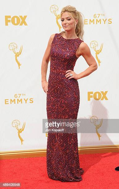 Debbie Matenopoulos arrives at the 67th Annual Primetime Emmy Awards at Microsoft Theater on September 20 2015 in Los Angeles California