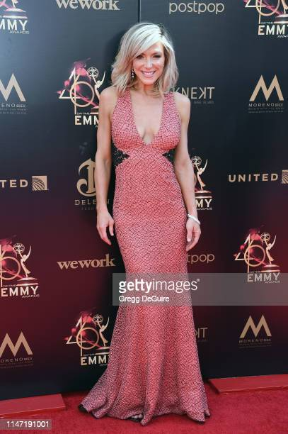 Debbie Matenopoulos attends the 46th annual Daytime Emmy Awards at Pasadena Civic Center on May 05 2019 in Pasadena California