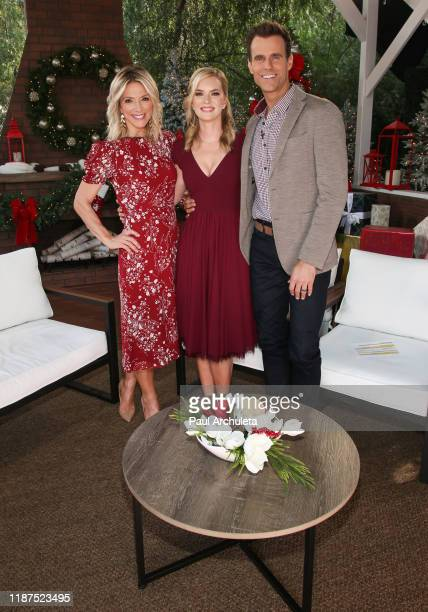 Debbie Matenopoulos Cindy Busby and Cindy Busby on the set of Hallmark Channel's Home Family at Universal Studios Hollywood on November 13 2019 in...
