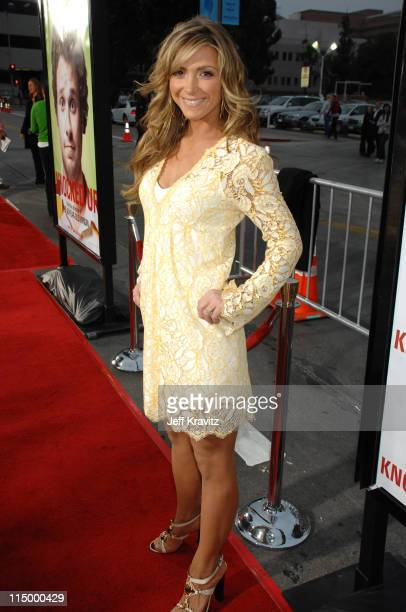 Debbie Matenopoulos during 'Knocked Up' Los Angeles Premiere Red Carpet at Mann's Village Theater in Westwood California United States