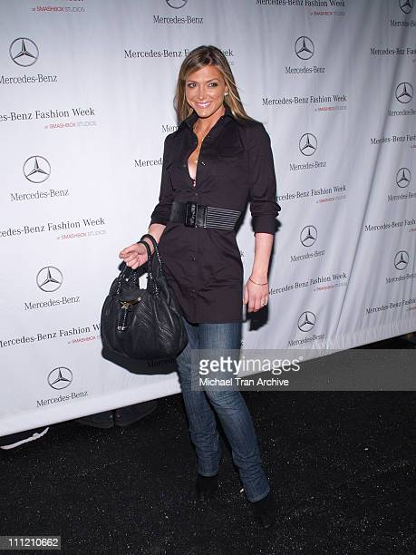 Debbie Matenopoulos during MercedesBenz Spring 2007 Los Angeles Fashion Week at Smashbox Studios Arrivals at Smashbox Studios in Culver City...