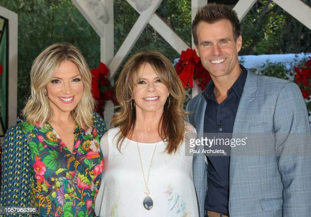 Debbie Matenopoulos MaryMargaret Humes and Cameron Mathison on the set of Hallmark's Home Family at Universal Studios Hollywood on November 5 2018 in...