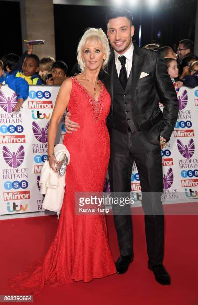 Debbie McGee and Giovanni Pernice attend the Pride Of Britain Awards at the Grosvenor House on October 30 2017 in London England