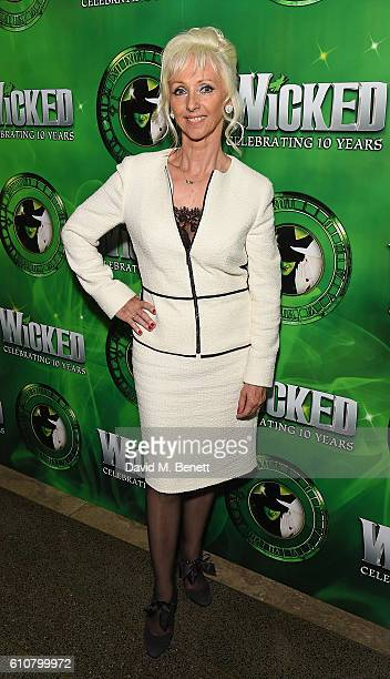 Debbie McGee attends the after party for hit musical 'Wicked' celebrating 10 years in the West End on September 27 2016 in London England