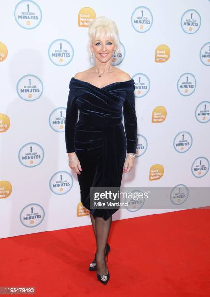 Debbie McGee attends the Good Morning Britain 1 Million Minutes Awards at Studio Works on January 23 2020 in London England