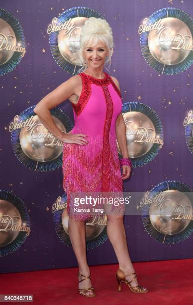 Debbie McGee attends the 'Strictly Come Dancing 2017' red carpet launch at Broadcasting House on August 28 2017 in London England