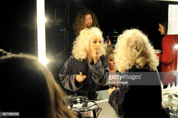 Debbie McGee is seen backstage at the 'Strictly Come Dancing' Live dress rehearsal at Arena Birmingham on January 18 2018 in Birmingham England Ahead...