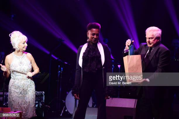 Debbie McGee, Jade Anouka and Sir Derek Jacobi attend The Old Vic Bicentenary Ball to celebrate the theatre's 200th birthday at The Old Vic Theatre...