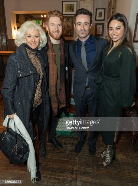 Debbie McGee Neil Jones Joseph McFadden and Katya Jones attend the press night after party for The House On Cold Hill at the Richmond Theatre on...