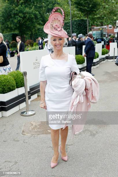 Debbie McGee on day 2 of Royal Ascot at Ascot Racecourse on June 19 2019 in Ascot England