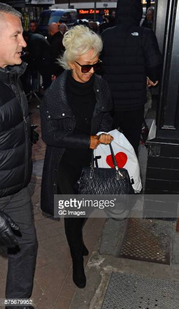 Debbie McGee seen arriving at rehearsals at the Tower Ballroom on November 18 2017 in Blackpool England