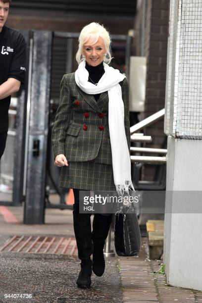 Debbie McGee seen at the ITV Studios on April 10 2018 in London England