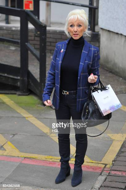 Debbie McGee seen at the ITV Studios on February 9 2017 in London England