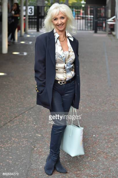 Debbie McGee seen at the ITV Studios on September 21 2017 in London England