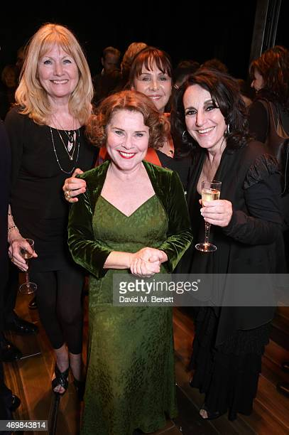 Debbie Moore Imelda Staunton Arlene Phillips and Lesley Joseph attends a post show drinks reception on stage following the press night performance of...