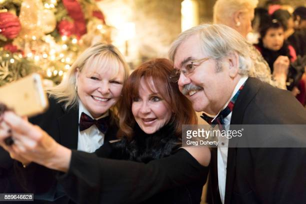 Debbie O'Connor Jacklyn Zeman and John O'Connor take a selfie at The Thalians Hollywood for Mental Health Holiday Party 2017 at the Bel Air Country...