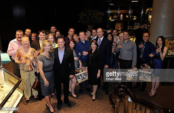 Debbie Osmond Donny Osmond and Tiffany Co director Suzy Nagle and Tiffany Co Group Director Peter Sinibaldi pose with the 10 couples that...
