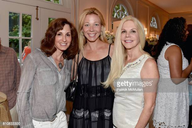 Debbie Paley Dawn Bodenchak and Nancy Pearson attend Katrina and Don Peebles Host NY Mission Society Summer Cocktails at Private Residence on July 7...