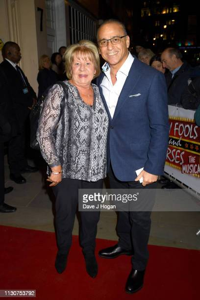 Debbie Paphitis and Theo Paphitis attend the opening night of Only Fools and Horses The Musical at Theatre Royal Haymarket on February 19 2019 in...