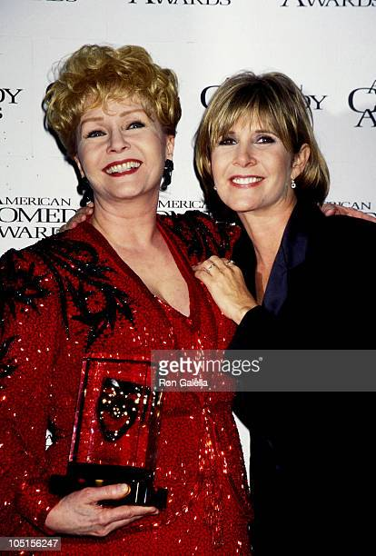 Debbie Reynolds and Carrie Fisher during 11th Annual American Comedy Awards at The Shrine Auditorium in Los Angeles California United States