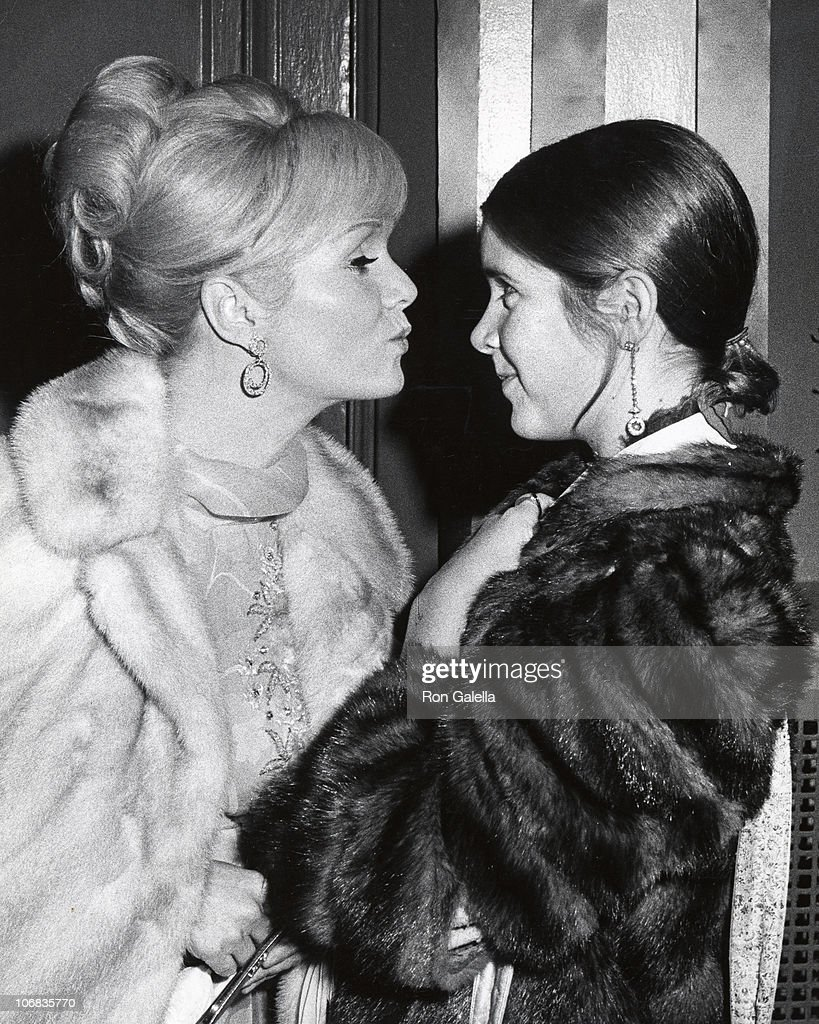 Debbie Reynolds and Carrie Fisher sighitng at the Town Hall, New York City for the School Benefit at Town Hall - November 6, 197 : News Photo