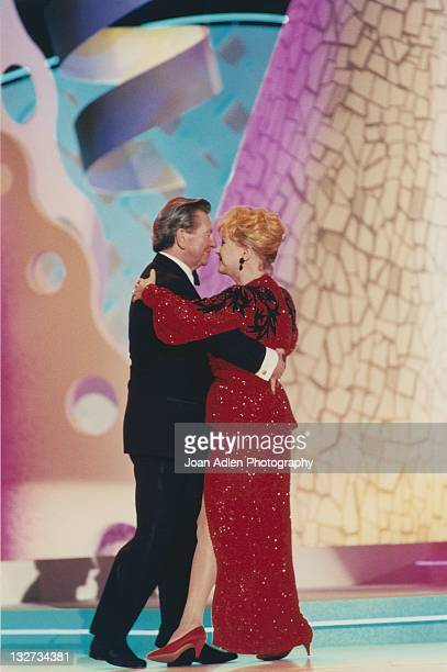 Debbie Reynolds and Donald O'Connor at the American Comedy Awards on February 9 1997 at the Shrine Auditorium in Los Angeles California
