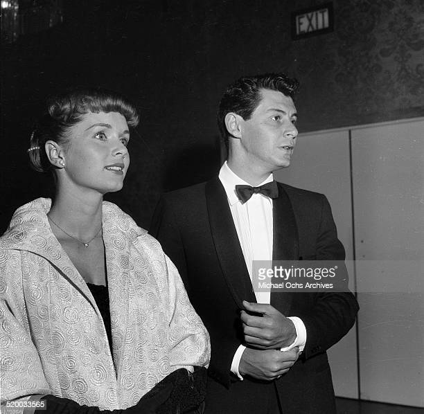 Debbie Reynolds and Eddie Fisher attend the Screen Producers Awards in Los Angeles,CA.
