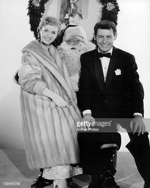 Debbie Reynolds and Eddie Fisher in publicity portrait for the film 'Bundle Of Joy' 1956