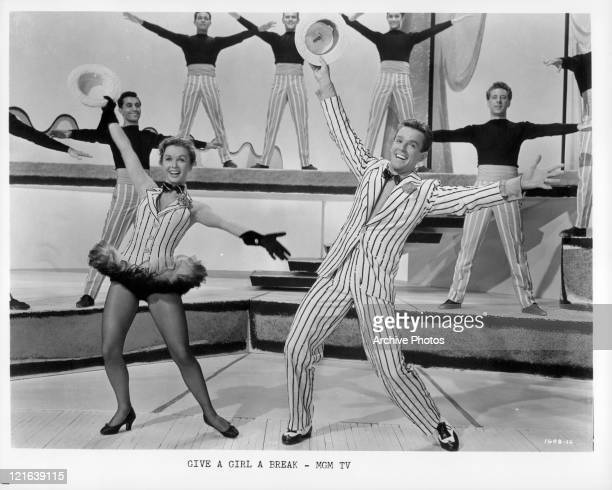 Debbie Reynolds and Gower Champion dancing in a scene from the film 'Give A Girl A Break' 1953