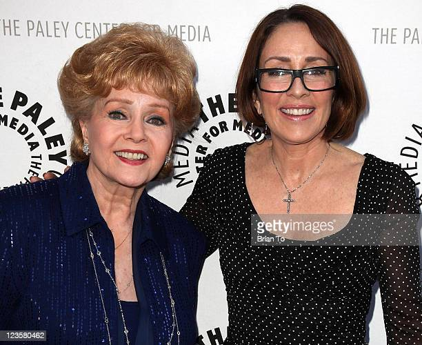Debbie Reynolds and Patricia Heaton attend Paley Center TCM present Debbie Reynolds' Hollywood memorabilia exhibit reception at The Paley Center for...