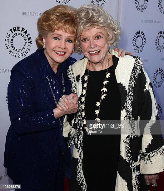 Debbie Reynolds and Phyllis Diller attend Paley Center TCM present Debbie Reynolds' Hollywood memorabilia exhibit reception at The Paley Center for...