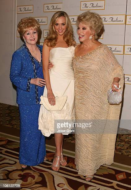Debbie Reynolds Andrea Bowen and Ruta Lee during 51st Annual Thalians Ball Arrivals at Hyatt Regency Century Plaza in Century City California United...