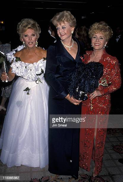 Debbie Reynolds Angela Lansbury and Ruta Lee during 37th Annual Thalians Ball at Century Plaza Hotel in Century City California United States