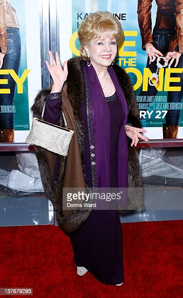 Debbie Reynolds attends the One for the Money premiere at the AMC Loews Lincoln Square on January 24 2012 in New York City