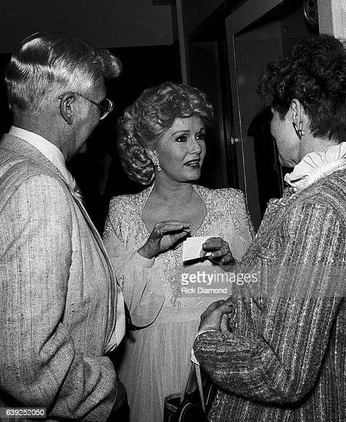 Debbie Reynolds backstage at The Fox Theater in Atlanta Georgia October 21, 1986
